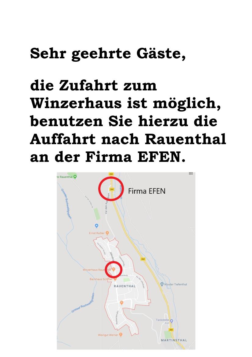 Zufahrt Winzerhaus